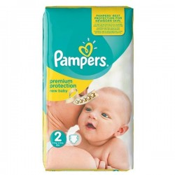 Pampers - Pack 31 Couches Premium Protection taille 2 sur Couches Poupon