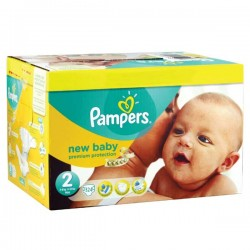 Pampers - Pack 93 Couches Premium Protection taille 2 sur Couches Poupon