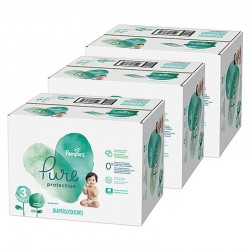 Pampers - Maxi giga pack 396 Couches Pure Protection taille 3 sur Couches Poupon
