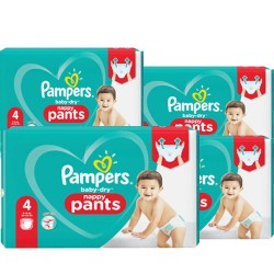 Pampers - Pack 60 Couches Baby Dry Pants taille 4 sur Couches Poupon
