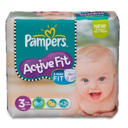 Active Fit - 92 Couches Pampers taille 3 sur Couches Poupon