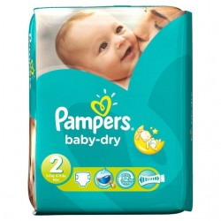 Pampers - Pack 46 Couches Baby Dry taille 2