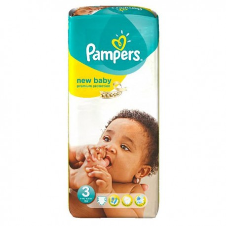 Pampers - Pack 20 Couches New Baby Premium Protection taille 3 sur Couches Poupon