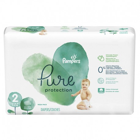 Pampers - Pack 27 Couches Pure Protection taille 2 sur Couches Poupon