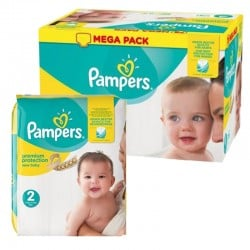 Pampers - 124 Couches New Baby Premium Protection taille 2 sur Couches Poupon
