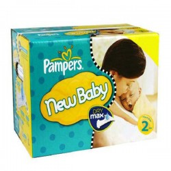 Pampers - 217 Couches New Baby Premium Protection taille 2 sur Couches Poupon