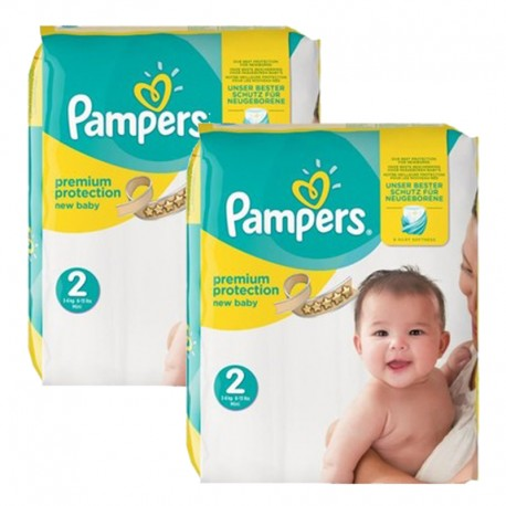 Pampers - Maxi mega pack 434 Couches New Baby Premium Protection taille 2 sur Couches Poupon