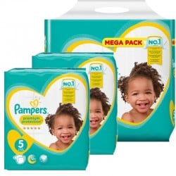 Pampers - Maxi giga pack 390 Couches New Baby Premium Protection taille 5