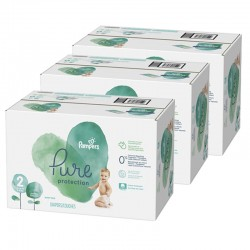 Pampers - Giga pack 297 Couches Pure Protection taille 2