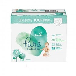 Pampers - Maxi mega pack 405 Couches Pure Protection taille 2