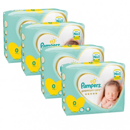Pampers - Mega pack 120 Couches New Baby Premium Care taille 0 sur Couches Poupon
