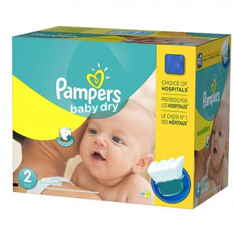 Pampers - Mega pack 138 Couches Baby Dry taille 2 sur Couches Poupon