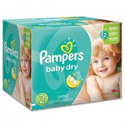 Pampers - 322 Couches Baby Dry taille 2 sur Couches Poupon