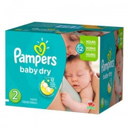 Pampers - 414 Couches Baby Dry taille 2 sur Couches Poupon