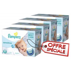 Pampers - 300 300 Couches New Baby Sensitive taille 2 sur Couches Poupon