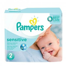 Pampers - 420 420 Couches New Baby Sensitive taille 2 sur Couches Poupon