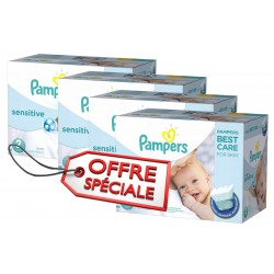 Pampers - Maxi mega pack 480 Couches New Baby Sensitive taille 2 sur Couches Poupon