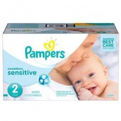 Pampers - 600 Couches New Baby Sensitive taille 2 sur Couches Poupon
