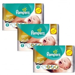 Pampers - 76 Couches New Baby Premium Care taille 2 sur Couches Poupon