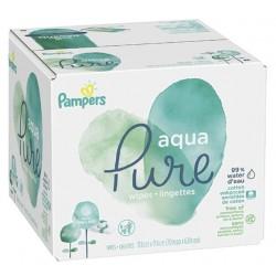 Pampers - 192 Lingettes Bébés Aqua Pure sur Couches Poupon