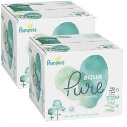 Pampers - 348 384 Lingettes Bébés Aqua Pure sur Couches Poupon