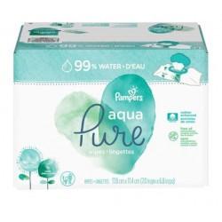 Pampers - 768 Lingettes Bébés Aqua Pure sur Couches Poupon