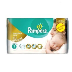Pampers - 22 Couches New Baby Premium Care taille 1