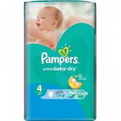 Pampers - 13 Couches Active Baby Dry taille 4 sur Couches Poupon