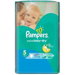 Pampers - 11 Couches Active Baby Dry taille 5 sur Couches Poupon