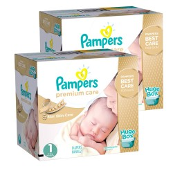 Pampers - 88 Couches New Baby Premium Care taille 1 sur Couches Poupon