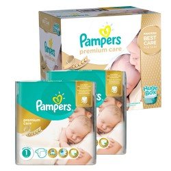 Pampers - 154 Couches New Baby Premium Care taille 1 sur Couches Poupon