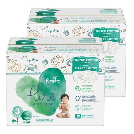 Pampers - Pack 88 Couches Pure Protection taille 3 sur Couches Poupon