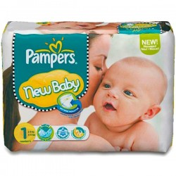 Pampers - Pack 72 Couches New Baby Premium Protection taille 1