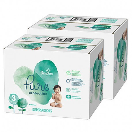 Pampers - Mega pack 110 Couches Pure Protection taille 3 sur Couches Poupon
