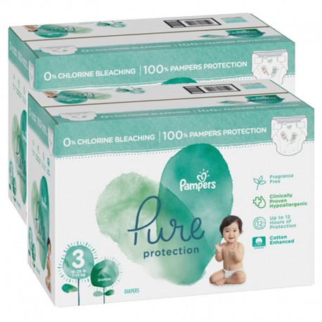 Pampers - Mega pack 132 Couches Pure Protection taille 3 sur Couches Poupon