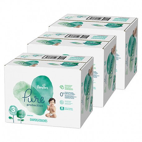 Pampers - Mega pack 176 Couches Pure Protection taille 3 sur Couches Poupon