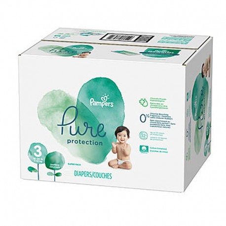Pampers - Maxi giga pack 308 Couches Pure Protection taille 3 sur Couches Poupon