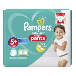 Pampers - Pack 34 Couches Baby Dry Pants taille 5+ sur Couches Poupon