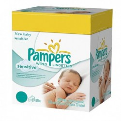 Pampers - Giga pack 280 Lingettes Bébés New Baby Sensitive sur Couches Poupon