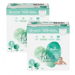 Pampers - Mega pack 105 Couches Pure Protection taille 1