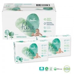 Pampers - Giga pack 210 Couches Pure Protection taille 1
