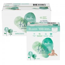 Pampers - Giga pack 245 Couches Pure Protection taille 1