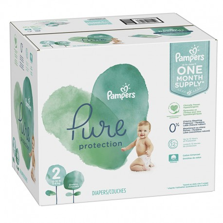 Pampers - Mega pack 108 Couches Pure Protection taille 2 sur Couches Poupon