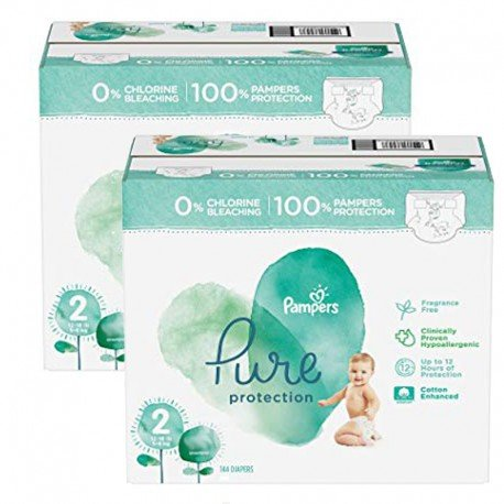 Pampers - Mega pack 162 Couches Pure Protection taille 2 sur Couches Poupon