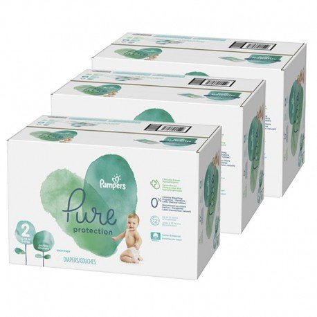 Pampers - Giga pack 270 Couches Pure Protection taille 2 sur Couches Poupon