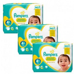 Pampers - Giga pack 252 Couches New Baby Premium Protection taille 4+ sur Couches Poupon