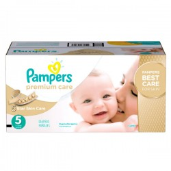 Pampers - Maxi mega pack 420 Couches Premium Care taille 5