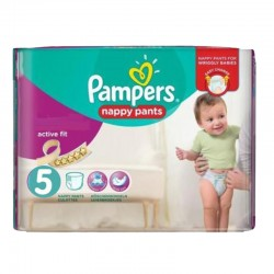 Pampers - Pack 17 Couches Active Fit Pants taille 5 sur Couches Poupon
