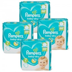Pampers - Pack 42 Couches Baby Dry taille 7 sur Couches Poupon