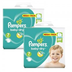 Pampers - Mega pack 105 Couches Baby Dry taille 7 sur Couches Poupon